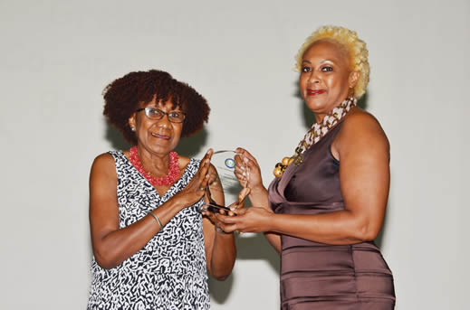 Julia Lawrence, Chief Audit Executive, Grenada Co-operative Bank, receives Good Corporate Citizen Award